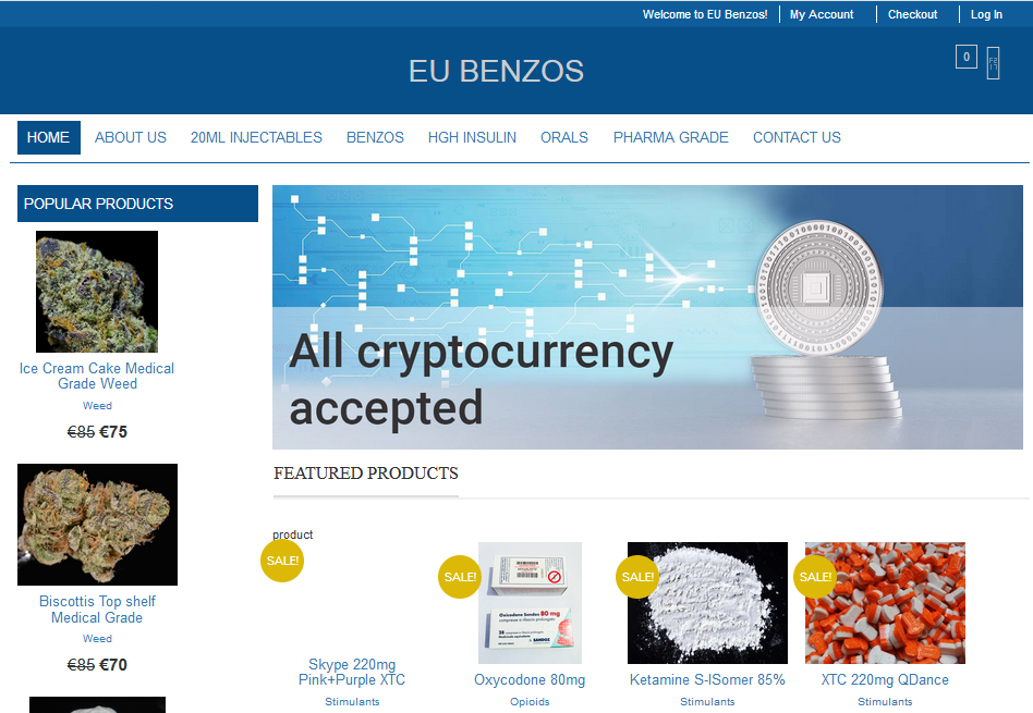 eubenzos shop main page