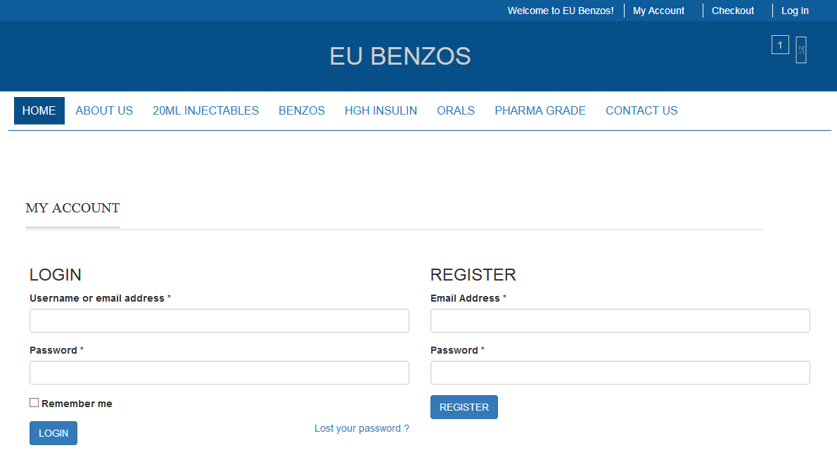 Eubenzos registration page