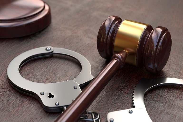 gavel judge sentenced jail