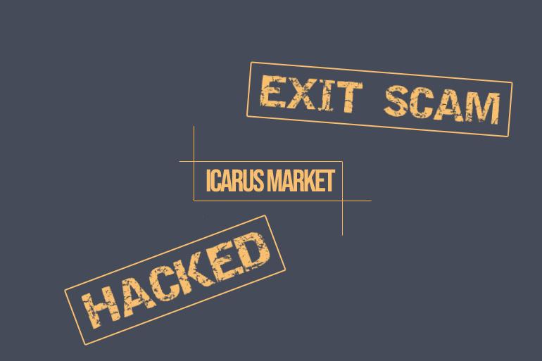 icarus market hack or exit scam